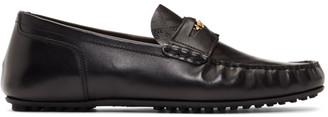 Versace Black Medusa Greek Key Loafers