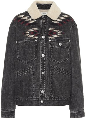 Etoile Isabel Marant Jarna embroidered denim jacket