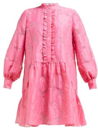 Erdem Quentin Fil-coupe Silk Dress - Womens - Pink