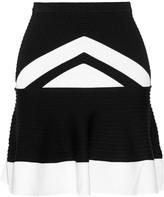 Ohne Titel Textured stretch-knit mini skirt