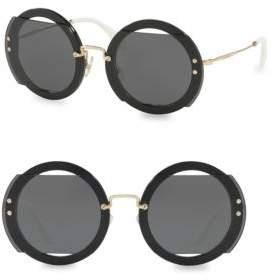 Miu Miu 49MM Round Sunglasses