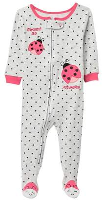 Koala Baby Lady Bug One-Piece Pajama (Baby Girls)