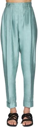 Ann Demeulemeester High Waist Wrinkled Linen Pants