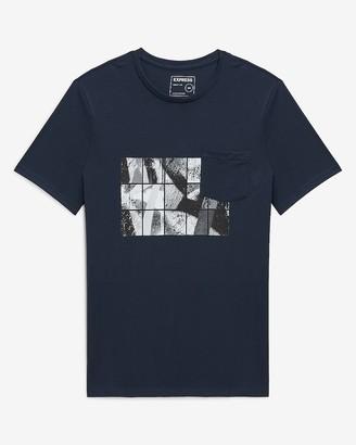 Express Navy Blocks Graphic T-Shirt