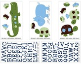 NoJo Wall Decal Nursery Multicolor Animals