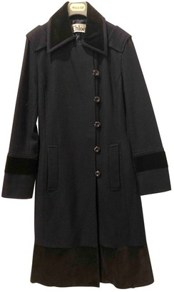 Chloé Blue Wool Coat for Women Vintage