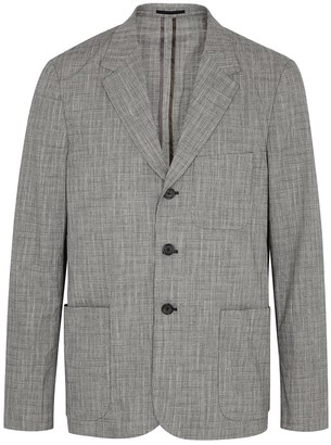 Paul Smith Grey checked cotton-blend jacket