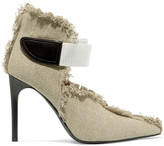 Acne Studios Sibilla fringed canvas pumps