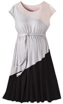 Maternity Short Sleeve Color block Dress Pink/Gray/Black