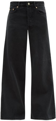 Raey Stride Wide-leg Jeans - Black