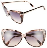 Tom Ford Reveka 59mm Gradient Cat Eye Sunglasess