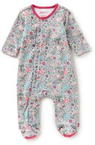 Zutano Baby Girls Newborn-6 Months In The Woods Printed Footed Coverall