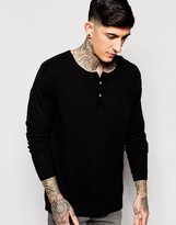 Scotch & Soda Jumper With Henley Neck