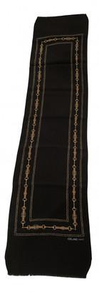 Celine Black Silk Scarves