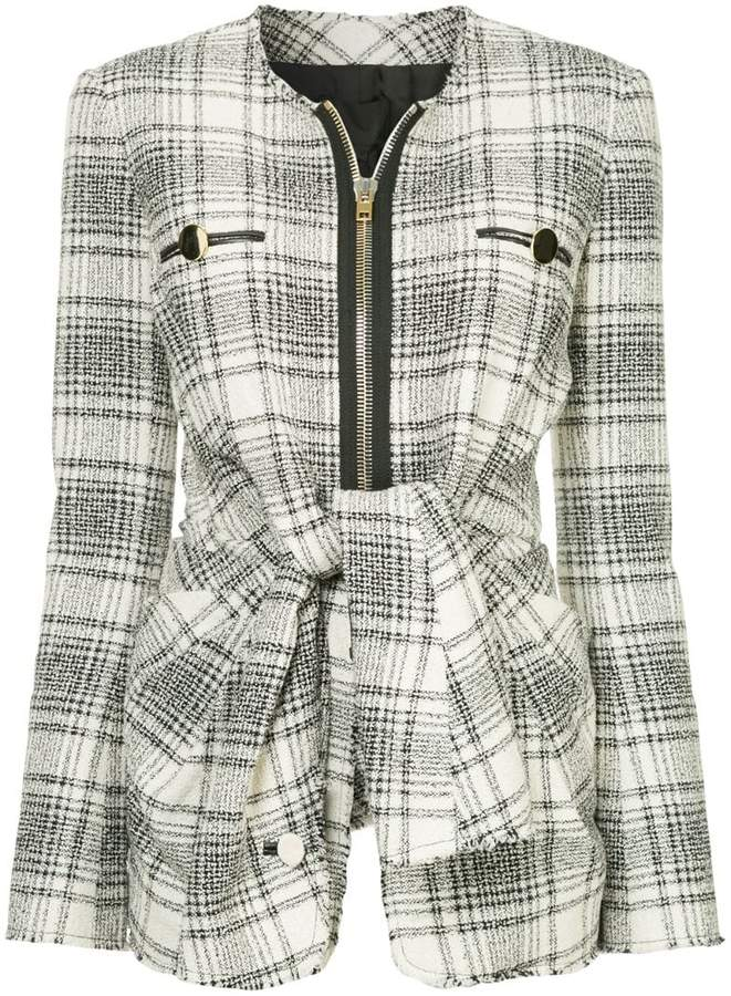 Alexander Wang checked tie-front jacket