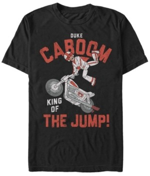 Disney Pixar Men's Toy Story Duke Caboom King of the Jump, Short Sleeve T-Shirt