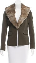 Elizabeth and James Fur-Trimmed Wool Jacket
