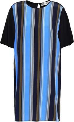 Diane von Furstenberg Striped Silk Crepe De Chine Mini Dress