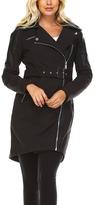 BCBGeneration Black Belted Trench Coat