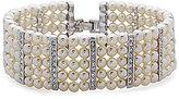 Nina Pearl & Crystal Line Bracelet