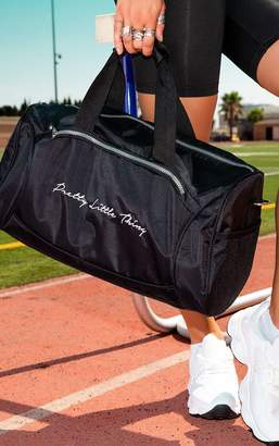 PrettyLittleThing Black Logo Gym Bag