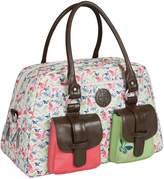 Lassig Vintage Metro Style Diaper Bag includes Matching Bottle Holder, Changing Mat and Stroller Hooks