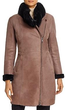 Maximilian Furs Fox Fur-Collar & Lamb Shearling Coat - 100% Exclusive