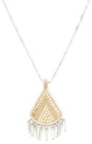 Triangle Bar Fringe Pendant Necklace