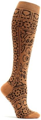 Ozone Women's Floral Mosaic Knee High Sock