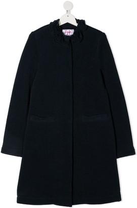 Il Gufo Ruffle Neck Coat