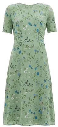 Altuzarra Sylvia Silk-crepe Midi Tea Dress - Womens - Green Multi