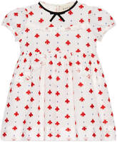 Gucci Baby dress with bees and dots embroidery