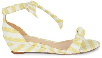 Alexandre Birman Clarita Striped Wedge Sandals