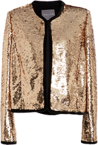 Monique Lhuillier Sequin Cropped Jacket