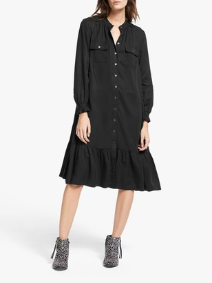 And/Or AND/OR Layla Ruffle Hem Shirt Dress, Black
