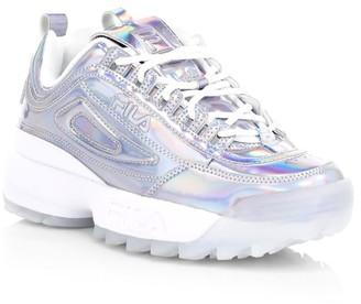 Fila Women's Disruptor II Iridescent Chunky Sneakers