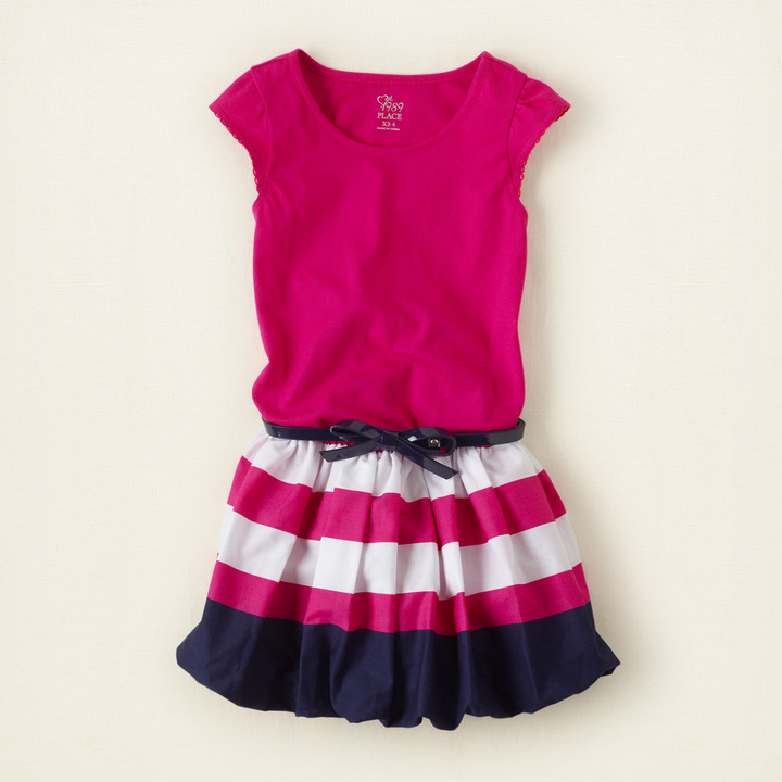 Children's Place Striped bubble dress