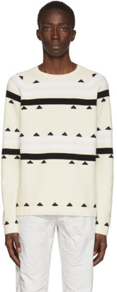 MONCLER GENIUS 2 Moncler 1952 Beige Striped Sweater