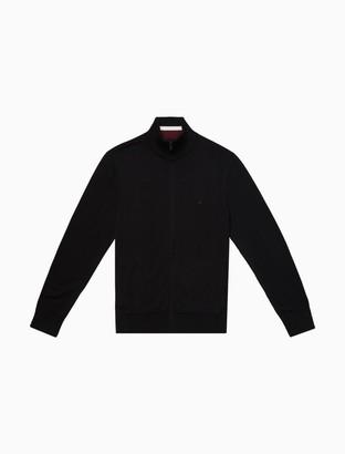 Calvin Klein Regular Fit Merino Wool Full Zip Sweater