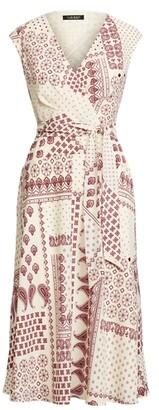Lauren Ralph Lauren Ralph Lauren Bandanna-Print Crepe Midi Dress
