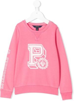 Ralph Lauren Kids Graphic Print Relaxed-Fit Sweatshirt
