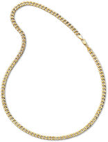 JCPenney FINE JEWELRY Made in Italy Mens 10K Yellow Gold 6mm Semi-Solid Curb Chain Necklace