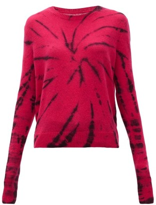 The Elder Statesman Tie-dyed Cashmere Sweater - Womens - Pink