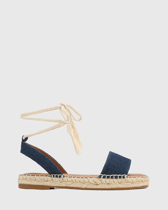 Wittner - Women's Navy Sandals - Dorenzo Canvas Espadrille Sandals - Size One Size, 37 at The Iconic