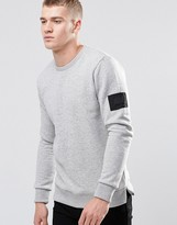 Jack and Jones Sweatshirt With Arm Badge