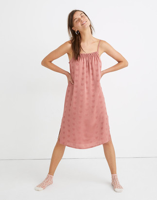 Madewell Heart Jacquard Side-Button Pajama Dress