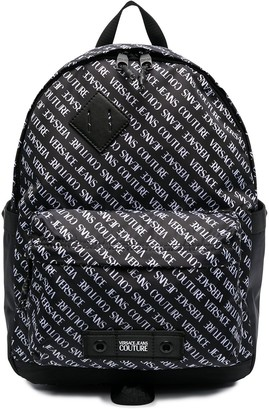 Versace Jeans Couture Logo-Print Zipped Backpack