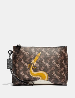 Coach Charlie Pouch With Horse And Carriage Print And Rocket