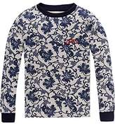 Scotch & Soda R ́Belle Girl's Crewneck allover Sweat Sweatshirt