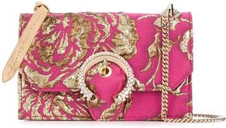 Jimmy Choo Paris floral-brocade shoulder bag